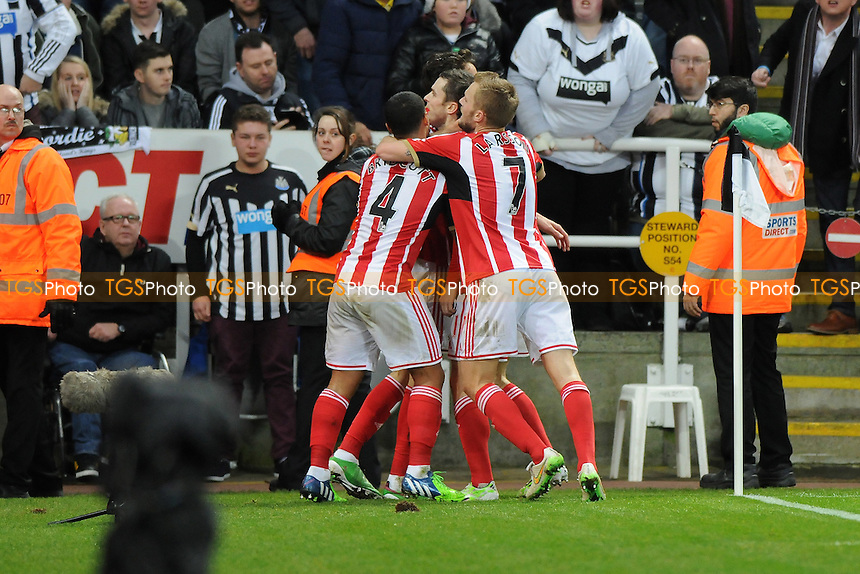 Adam Johnson of Sunderland scores the opening goal of the game - Newcastle United vs Sunderland AFC - Barclays Premier League Football at St James Park, Newcastle upon Tyne - 21/12/14 - MANDATORY CREDIT: Steven White/TGSPHOTO - Self billing applies where appropriate - contact@tgsphoto.co.uk - NO UNPAID USE