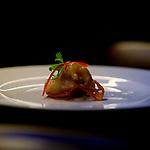 Sahimi de pez lmon con raiz de lotus y asi amarillo from Mr Porter steack house in Barcelona
