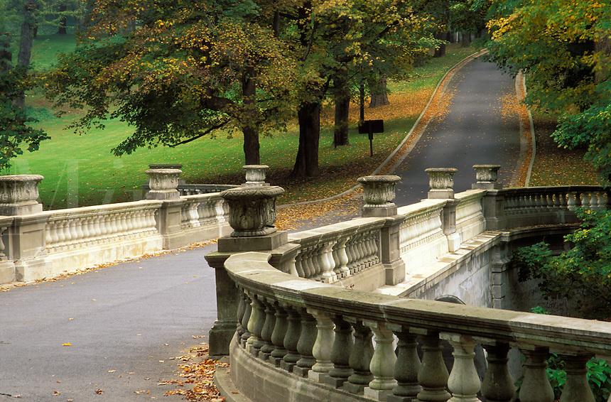 Road over White Bridge, Vanderbilt Mansion National Historic Site, Hyde Park, Dutchess County, New Yor
