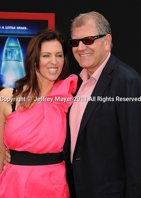 """HOLLYWOOD, CA - MARCH 06: Robert Zemeckis and Leslie Zemeckis  arrive at """"Mars Needs Moms 3D"""" Los Angeles Premiere at the El Capitan Theatre on March 6, 2011 in Hollywood, California"""
