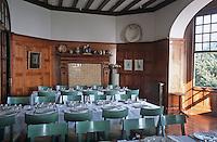 """Europe/France/Bretagne/35/Ille-et-Vilaine/Env de Cancale/Saint-Méloir des Ondes: Salle du restaurant """"le Coquillage"""" dans l'Hotel restaurant d'Olivier Roellinger """"Château Richeux"""" - Salle à manger"""