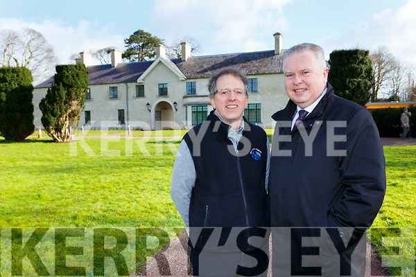 Dr Tony Murphy with Pat Dawson at Killarney House on Tuesday