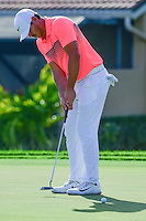 Brooks Koepka (USA) putts on 12 during round 1 of the Honda Classic, PGA National, Palm Beach Gardens, West Palm Beach, Florida, USA. 2/23/2017.<br /> Picture: Golffile | Ken Murray<br /> <br /> <br /> All photo usage must carry mandatory copyright credit (&copy; Golffile | Ken Murray)
