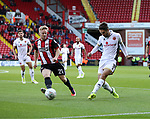 Mark Duffy of Sheffield United in action with Luke Leahy of Walsall during the Carabao Cup round One match at Bramall Lane Stadium, Sheffield. Picture date 9th August 2017. Picture credit should read: Jamie Tyerman/Sportimage