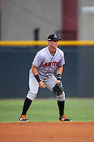 Jupiter Hammerheads second baseman Brian Schales (11) during a game against the Lakeland Flying Tigers on April 14, 2016 at Henley Field in Lakeland, Florida.  Lakeland defeated Jupiter 5-0.  (Mike Janes/Four Seam Images)