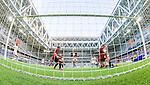 Stockholm 2014-07-31 Fotboll Europa League IF Brommapojkarna - Torino FC :  <br /> Torinos Paulo Barreto g&ouml;r 0-3 till Torino bakom  Brommapojkarnas m&aring;lvakt Davor Blazevic och Gabriel Petrovic deppar vid m&aring;llinjen<br /> (Foto: Kenta J&ouml;nsson) Nyckelord:  BP Brommapojkarna IFB Tele2 Arena Europa League Torino FC TFC Italien Itay depp besviken besvikelse sorg ledsen deppig nedst&auml;md uppgiven sad disappointment disappointed dejected jubel gl&auml;dje lycka glad happy