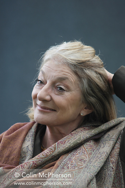 English actress Jane Lapotaire, pictured at the Edinburgh International Book Festival where she talked about her long career in acting . The Book Festival was the World's largest literary event and featured writers from around the world. The 2007 event featured around 550 writers and ran from 11-27 August.