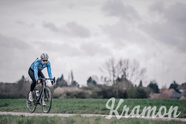 Wout Van Aert  (BEL/Veranda's Willems-Crelan)   during recon of the 116th Paris - Roubaix 2018