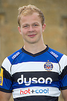 Will Homer poses for a portrait at a Bath Rugby photocall. Bath Rugby Media Day on August 28, 2014 at Farleigh House in Bath, England. Photo by: Rogan Thomson for Onside Images