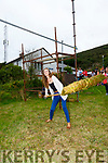 Kerry Rose Celine O'Shea in action at the Sheaf Throwing competition in Cahersiveen at the Weekend.