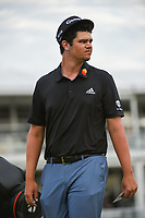 Beau Hossler (USA) after sinking his putt on 18 during round 4 of the 2019 Houston Open, Golf Club of Houston, Houston, Texas, USA. 10/13/2019.<br /> Picture Ken Murray / Golffile.ie<br /> <br /> All photo usage must carry mandatory copyright credit (© Golffile | Ken Murray)