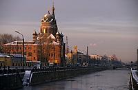 Europe-Asie/Russie/Saint-Petersbourg: Les bords de la Moïka - Architecture néo-classique et baroque