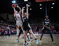 Stanford, CA - January 24, 2020: Lexie Hull at Maples Pavilion. The Stanford Cardinal defeated the Colorado Buffaloes in overtime, 76-68.