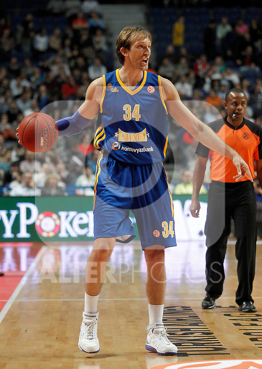 BC Khimki MR's Zoran Planinic during Euroleague 2012/2013 match.November 23,2012. (ALTERPHOTOS/Acero)