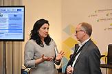 """EU-Ministerin Iwanna Klympusch-Zynzadse<br />Urkainische Textilfabrik """"Rito"""" in der Kleinstadt Browary nahe Kiew, orientiert sich in seiner Produktion jetzt Richtung EU und nicht mehr nach Russland"""