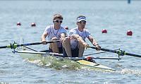 Brandenburg. GERMANY. GBR LM2-. Bow Joel CASSELLS and Sam SCRIMGEOUR.<br /> 2016 European Rowing Championships at the Regattastrecke Beetzsee<br /> <br /> Friday  06/05/2016<br /> <br /> [Mandatory Credit; Peter SPURRIER/Intersport-images]
