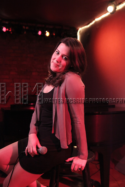 Katharine Luckinbill  rehearsing for her new Cabaret Show 'LOVE (or there lack of) at Don't Tell Mama in New York City .