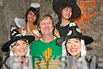 "7835-7843.---------.Wicked Witches.--------------.""Fair is foul and foul is fair hover through the wind and Filthy air""enjoying the scary stories in Roundies Pub Tralee on halloween night were(front)L-R Helen Fitzgibbon,Chris Ferris and Chifan Cheuk(back)L-R Melissa Prouty and Lisa Cheuk..--------------------------------   Copyright Kerry's Eye 2008"