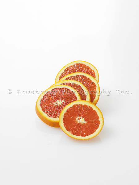 orange slices from whole orange
