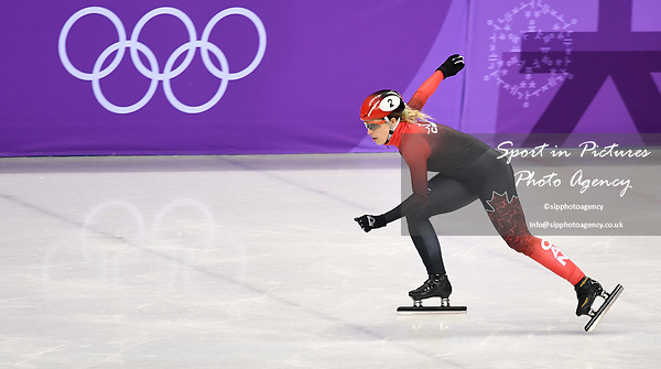 Marianne St Gelais (CAN). Short track. Gangneung ice arena. Pyeongchang2018 winter Olympics. Gangneung. Republic of Korea. 10/02/2018. ~ MANDATORY CREDIT Garry Bowden/SIPPA - NO UNAUTHORISED USE - +44 7837 394578