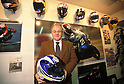 M. Ferry Brouwer, director of ARAI EUROPE BV,.in the Arai champions' helmets gallery.