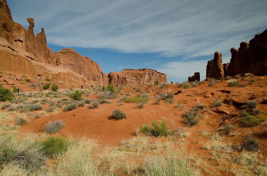Park Avenue, Arches National Park, Utah, US