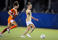 Florida International University women's soccer player April Perry (6)  plays against the University of Florida on August 21, 2011 at Miami, Florida. Florida won the game 2-0. .