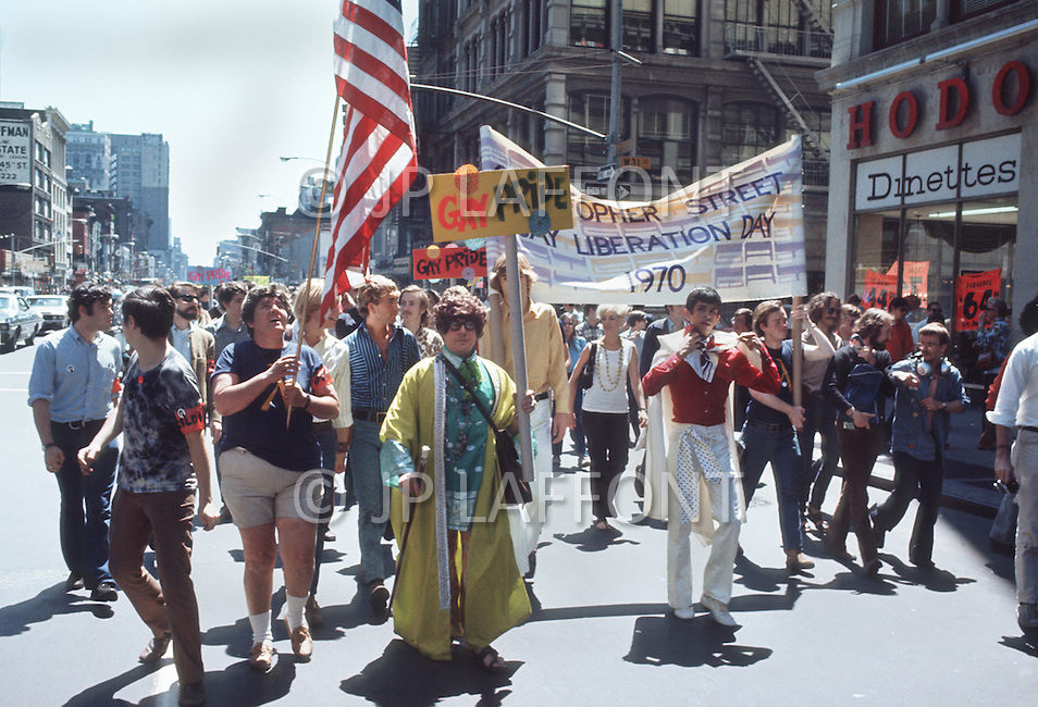 New York, NY June 28th 1970 - New York City's first Gay Pride Parade is held. The event was also titled Gay Liberation Day. Demonstrators march through the streets of Manhattan and finish in Central Park.