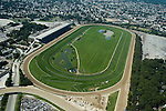 Aerial photograph of the New York Racing Association, Belmont Park, Queens, New York