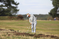 Soren Kjeldsen (DEN) on the 3rd fairway during Round 2 of the Sky Sports British Masters at Walton Heath Golf Club in Tadworth, Surrey, England on Friday 12th Oct 2018.<br /> Picture:  Thos Caffrey | Golffile<br /> <br /> All photo usage must carry mandatory copyright credit (&copy; Golffile | Thos Caffrey)