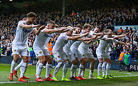 Leeds United players celebrate after EzgjanAlioski put them 2-1 up<br /> <br /> Photographer Alex Dodd/CameraSport<br /> <br /> The EFL Sky Bet Championship - Leeds United v Bolton Wanderers - Saturday 23rd February 2019 - Elland Road - Leeds<br /> <br /> World Copyright © 2019 CameraSport. All rights reserved. 43 Linden Ave. Countesthorpe. Leicester. England. LE8 5PG - Tel: +44 (0) 116 277 4147 - admin@camerasport.com - www.camerasport.com