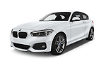 2018 BMW 1 Series M Sport Ultimate 3 Door Hatchback angular front stock photos of front three quarter view