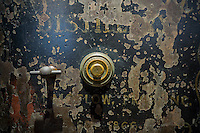 A vintage locked safe in New York on Tuesday, September 20, 2016. (© Richard B. Levine)