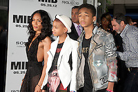 Jada Pinkett Smith, Jaden Smith and Willow Smith at the Men In Black 3 premiere at The Ziegfeld Theater in New York City. May 23, 2012. © Kristin Driscoll/MediaPunch Inc.