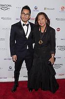 NEW YORK, NY - NOVEMBER 19: Cheek and Nelia Molato Sutrisno at the 40th International Emmy Awards in New York. November 19, 2012. © Diego Corredor/MediaPunch Inc. /NortePhoto