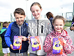 Conor, Emma and Sophie Neurohk at the East Meath United Easter Egg hunt. Photo:Colin Bell/pressphotos.ie