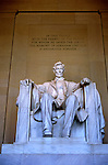 Washington DC: The Lincoln Memorial. Photo #: washdc105..Photo copyright Lee Foster, www.fostertravel.com, 510/549-2202, lee@fostertravel.com