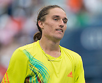 Alexandr Dolgopolov..Tennis - US Open - Grand Slam -  New York 2012 -  Flushing Meadows - New York - USA - Sunday 2nd September  2012. .© AMN Images, 30, Cleveland Street, London, W1T 4JD.Tel - +44 20 7907 6387.mfrey@advantagemedianet.com.www.amnimages.photoshelter.com.www.advantagemedianet.com.www.tennishead.net
