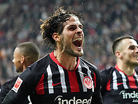 celebrate the goal, Torjubel zum 3:0 von Goncalo Paciencia (Eintracht Frankfurt) - 18.10.2019: Eintracht Frankfurt vs. Bayer 04 Leverkusen, Commerzbank Arena, <br /> DISCLAIMER: DFL regulations prohibit any use of photographs as image sequences and/or quasi-video.