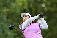 Shanshan Feng (CHN) tees off the 13th tee during Friday's Round 2 of The Evian Championship 2018, held at the Evian Resort Golf Club, Evian-les-Bains, France. 14th September 2018.<br /> Picture: Eoin Clarke | Golffile<br /> <br /> <br /> All photos usage must carry mandatory copyright credit (&copy; Golffile | Eoin Clarke)