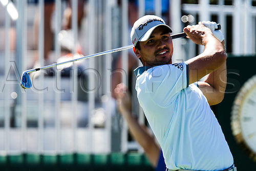 28.08.2015. Edison, NJ, USA.  Jason Day follows his tee shot after hitting from the 10th tee box during the second round of The Barclays at Plainfield Country Club in Edison, NJ.