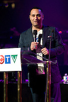 Russel Peters, Comedian, and host of the 2009 Juno Awards answers questions, insults media, and makes fun of the lavish set.  The 2009 Juno Awards airs Sunday, March 29th, 2009 (Scott Alexander/pressphotointl.com)