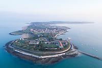 France, Charente Maritime, Ile d'Aix, Pointe Sainte Catherine, Fort de la Rade (aerial view) // France, Charente-Maritime (17), île d'Aix, pointe Sainte-Catherine, le Fort de la Rade (vue aérienne)
