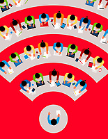 Students distance learning using wifi
