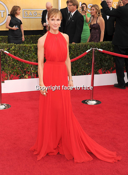 LOS ANGELES, CA- JANUARY 18: Actress Holly Hunter arrives at the 20th Annual Screen Actors Guild Awards at The Shrine Auditorium on January 18, 2014 in Los Angeles, California.<br /> Credit: Mayer/face to face<br /> - No Rights for USA, Canada and France -