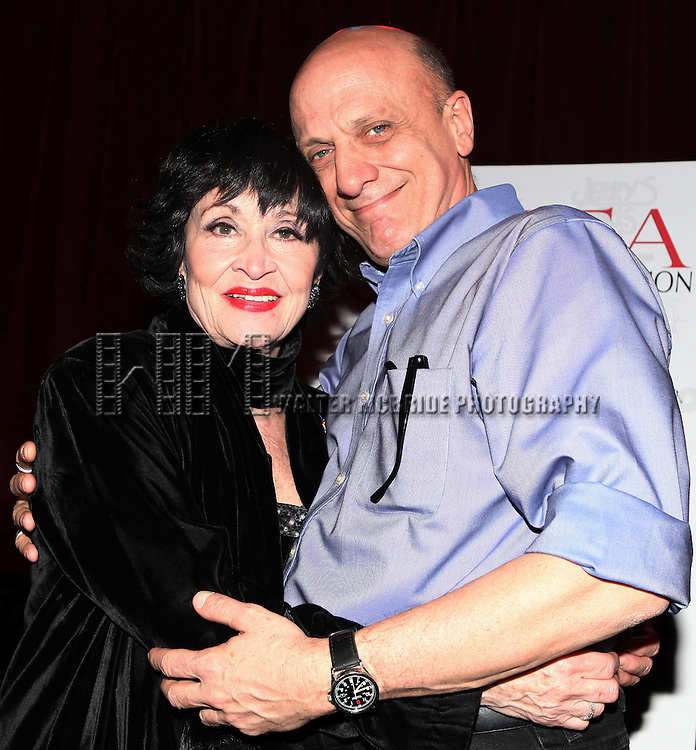 Tom Viola with Chita Rivera celebrating the announcement of 'Chita: A Legendary Celebration - A Star-Studded Gala Concert Honoring The Broadway Legend's 80th Birthday!' at Birdland in New York City on 1/13/2013
