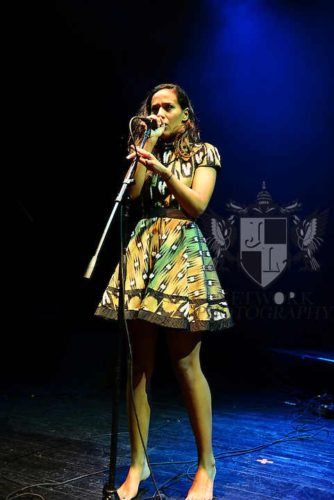 MIAMI BEACH, FL - OCTOBER 11: Amanda Sudano of Johnnyswim performs at Fillmore Miami Beach at Jackie Gleason Theater on October 11, 2013 in Miami Beach, Florida. (Photo by Johnny Louis/jlnphotography.com)