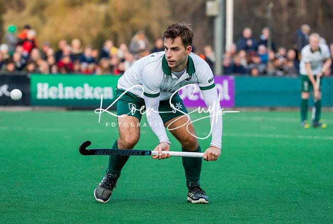 BLOEMENDAAL - Tristan Algera (Rdam)  tijdens  hoofdklasse competitiewedstrijd  heren , Bloemendaal-Rotterdam (1-1) .COPYRIGHT KOEN SUYK