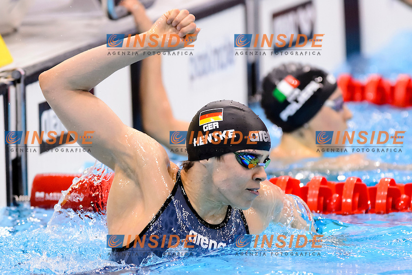 Franziska HENTKE GER Gold Medal <br /> 200m Butterfly Women Final <br /> London, Queen Elizabeth II Olympic Park Pool <br /> LEN 2016 European Aquatics Elite Championships <br /> Swimming<br /> Day 14 22-05-2016<br /> Photo Andrea Staccioli/Deepbluemedia/Insidefoto