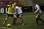 Clyde versus Edinburgh City, SPFL League 2 game at Broadwood Stadium, Cumbernauld. The match ended 0-0, watched by a crowd of 461. Photo shows City midfielder Mark McConnell.